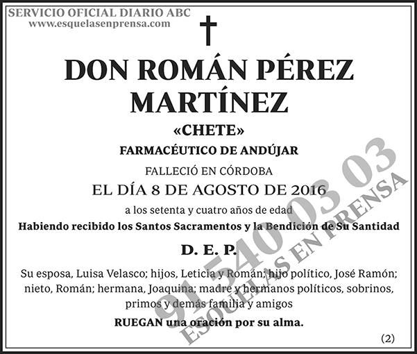 Román Pérez Martínez